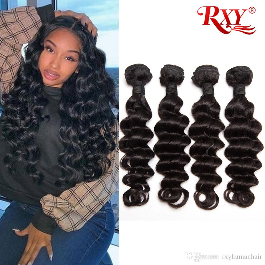 loose deep wave human hair bundles 4 pcs wholesale peruvian hair bundles loose deep no tangle no shedding human hair extensions
