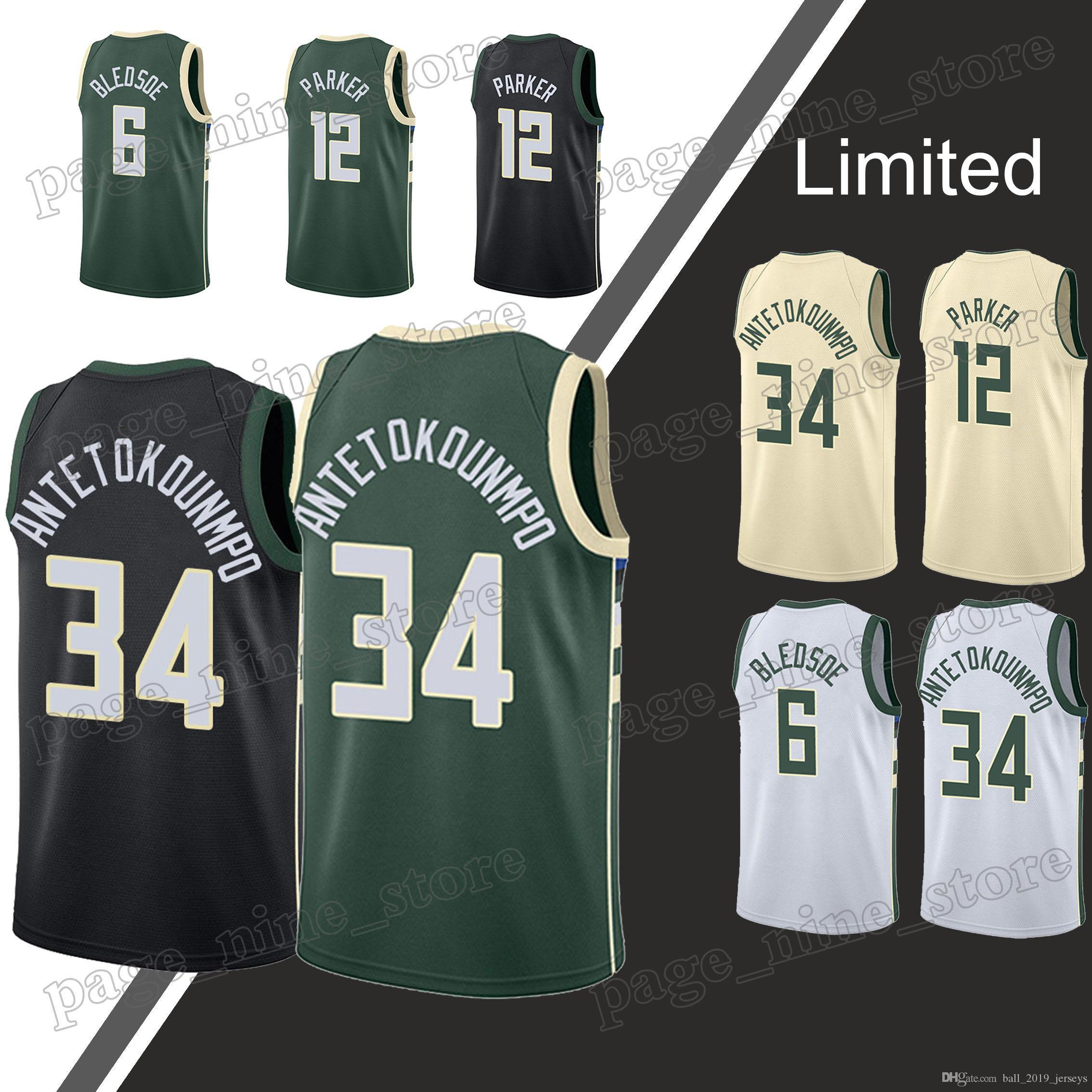 5758381a6 2019 Milwaukee Jerseys Bucks Giannis 34 Antetokounmpo Eric 6 Bledsoe Ray 34  Allen Hot Sale Basketball Jerseys From Ball 2019 jerseys