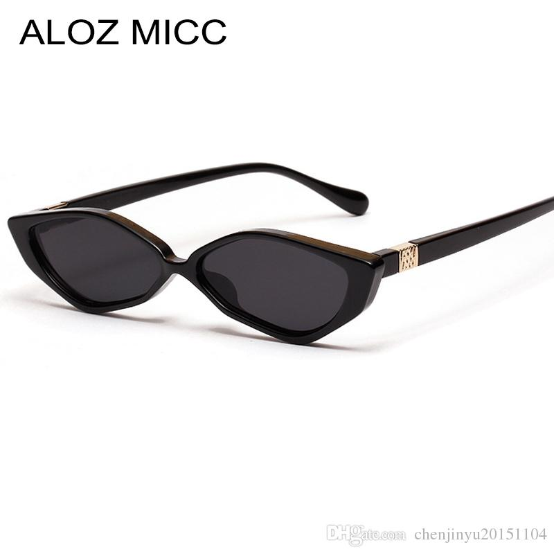 728269ca36 ALOZ MICC New Women Cat Eye Sunglasses 2019 Brand Designer Vintage Sun  Glasses Female Black Leopard Frame Oculos UV400 A481 Sunglasses At Night  Lyrics ...