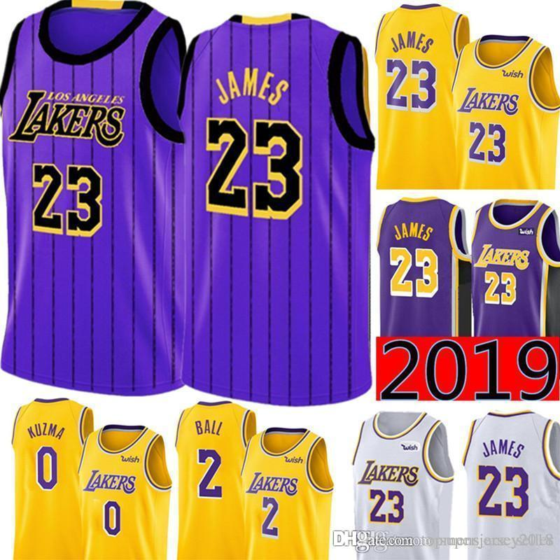 reputable site c3dbc 443a4 2019 City 23 LeBron James Los Angeles James Laker Jersey Mens Swingman  Jersey - Icon Edition Embroidery Basketball Jerseys S-XXL