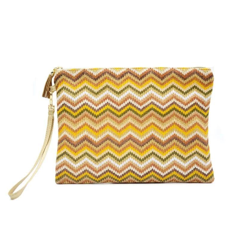 85dbde760 Waterproof Straw Beach Bag Multicolor Beach Straw Pouch Purse High Grade  Straw Reusable Women Makeup Cosmetic Case Bag Handbag Brands Silver Clutch  From ...