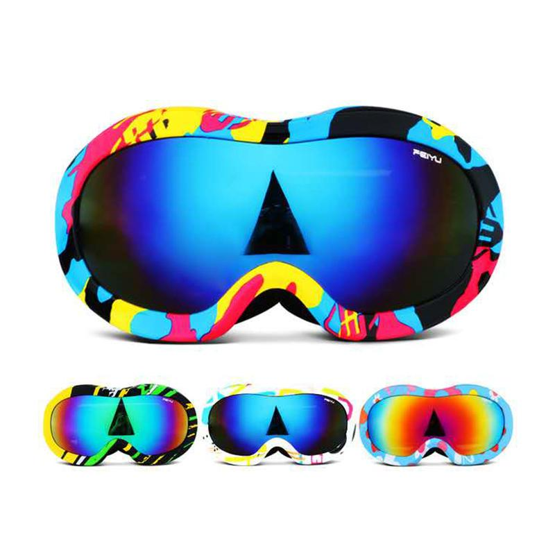 1347807ac8a 3-13 Years Kids Outdoor Sports Ski Glasses Double Anti-fog And UV ...