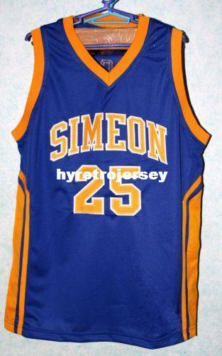 179652670bcb 2019 Mens DERRICK ROSE  25 SIMEON HIGH SCHOOL Basketball Jersey All Size  Embroidery Stitched Customize Any Name And Name XS 6XL Vest Jerseys From ...
