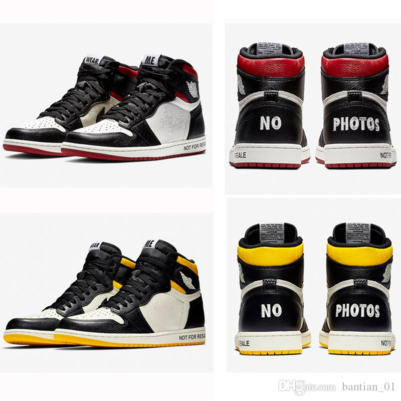 Compre Nike Air Jordan Retro 1 Jumpman NRG No L s NOT FOR RESALE NO PHOTOS  Basketball Shoes Men 1s White Red Black Yellow Sneakers With Shoes Box A   91.35 ... 7a0b170aca8