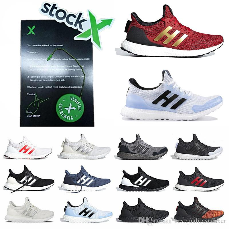 outlet store 0056b a2616 Stock X Ultra Boost 4.0 Mens Trainers Ultraboost 4s IV Game of Thrones  Targaryen Dragons Lannister Stark White Walkers Running Shoes
