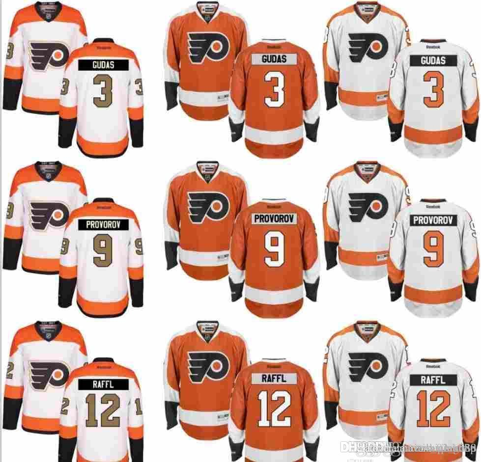 newest 4220b 6b362 Philadelphia Flyers Jersey Men's 3 Radko Gudas 9 Ivan Provorov 10 Brayden  Schenn 11 Travis Konecny 12 Michael Raffl Hockey Jerseys