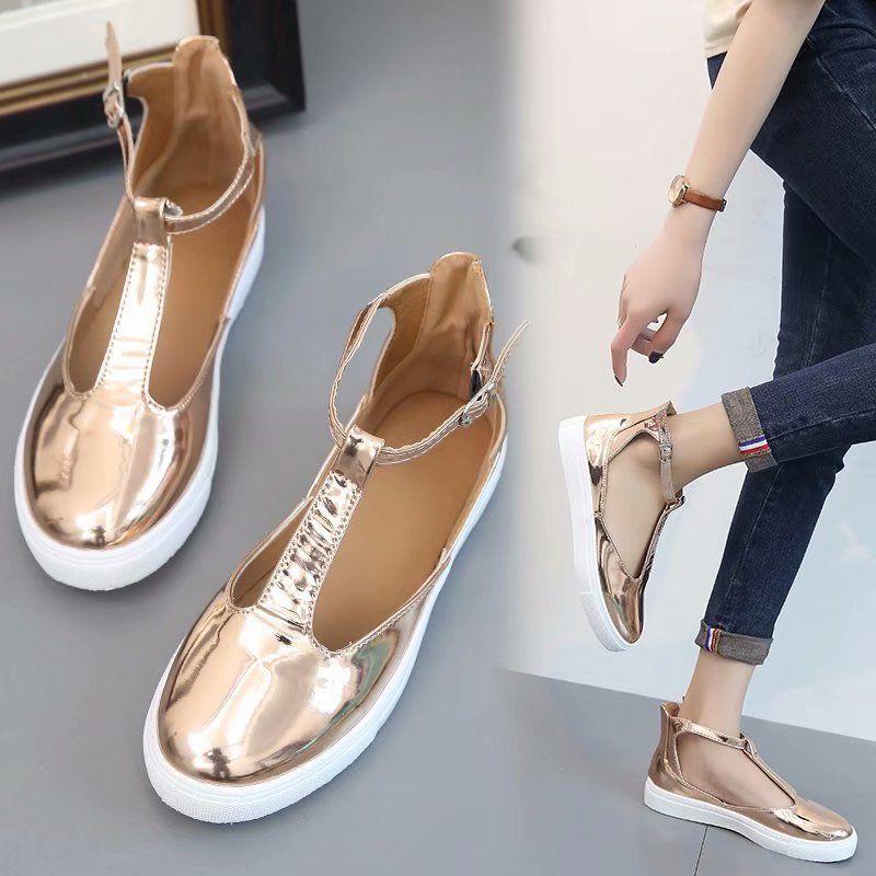 Chaussures Dames T Casual Damskie Or Sandales D Femme Fermé Buty Femmes Ruban Plat Toe Grandes Plus Strap 53jLRA4q