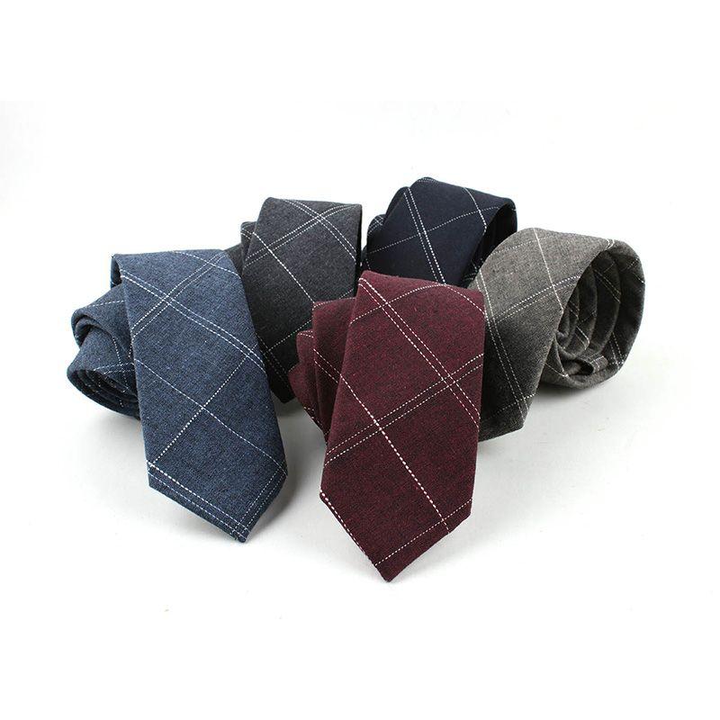 00c67c48b65a Men's Fashion Neck Ties Plaid Floral Printed Cotton Ties Paisley Skinny Men  Small Designer 6 CM Fashion Ties & Handkerchiefs Cheap Ties & Handkerchiefs  51 ...