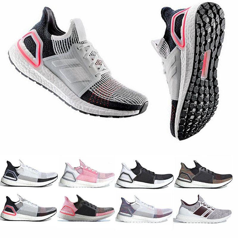 2019 Ultra Boost 19 Hombres Mujeres Zapatillas de running Ultraboost 5.0 Láser Rojo Pixel Oscuro Núcleo Negro Ultraboosts Diseñador Sport Sneaker