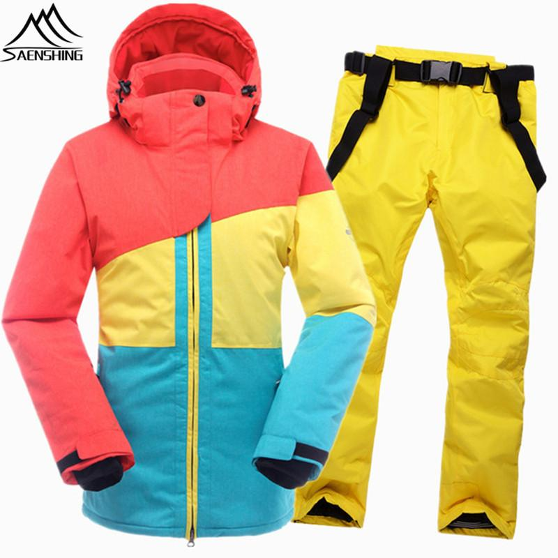 SAENSHING Warm Ski Suit Women Winter Ski Jacket Snowboarding Suits ... 1d62ac993