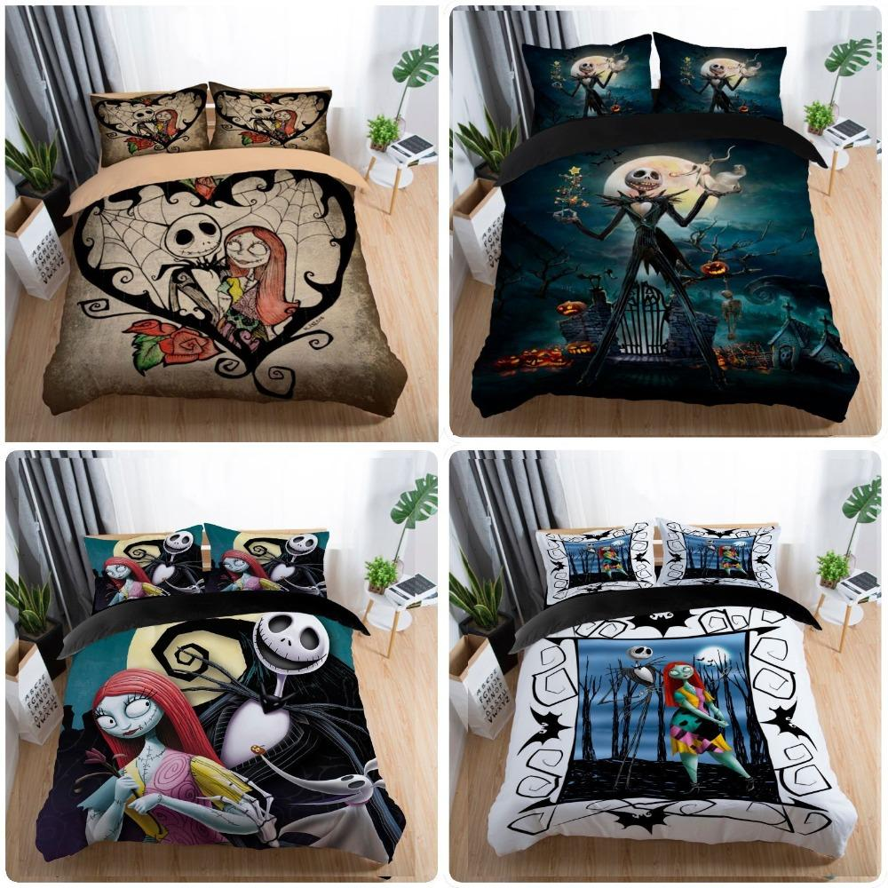 Couple Bedding Set King Size Nightmare Before Christmas Bedding Set