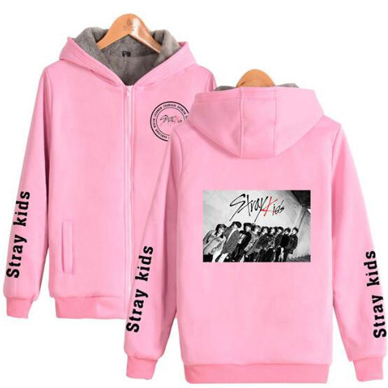 e0d0695fa536e Acheter Hiver KPOP Stray Enfants Femmes Vestes Et Manteaux Mode Coréenne  Album Straykids Chaud Épais Zipper Sweat Hoodies K POP Vêtements De $36.52  Du ...