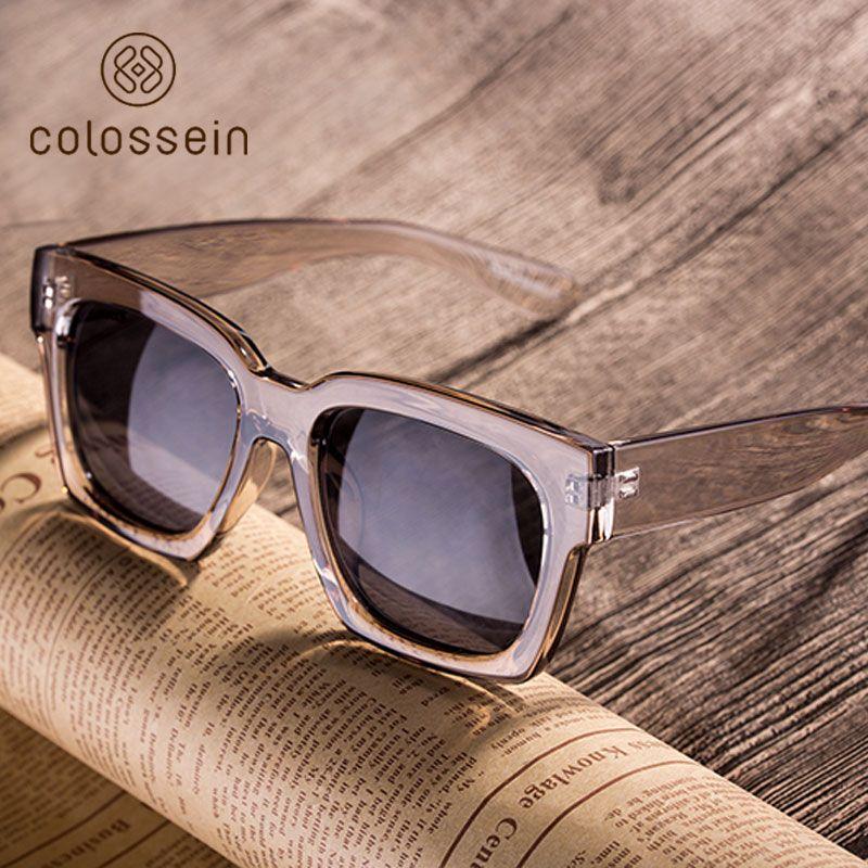 85604f3177 2019 COLOSSEIN Fashion Sunglasses Women Loves Oversize Square Frame Eyewear  Summer Glasses New Trend For Men Lentes De Sol Mujer From G6241163, ...