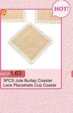 Jute Burlap Coaster Lace Rustic Vintage Jute Placemats Cup Coaster DIY Home Decor Wedding Party Decoration Party Favors