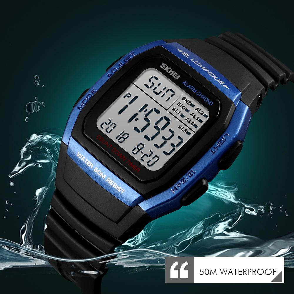 Cheap Digital Watches SKMEI Fashion Men Watches Sports Digital Watch Waterproof Alarm Man Wrist Electronic Clock Men Relogio Masculino
