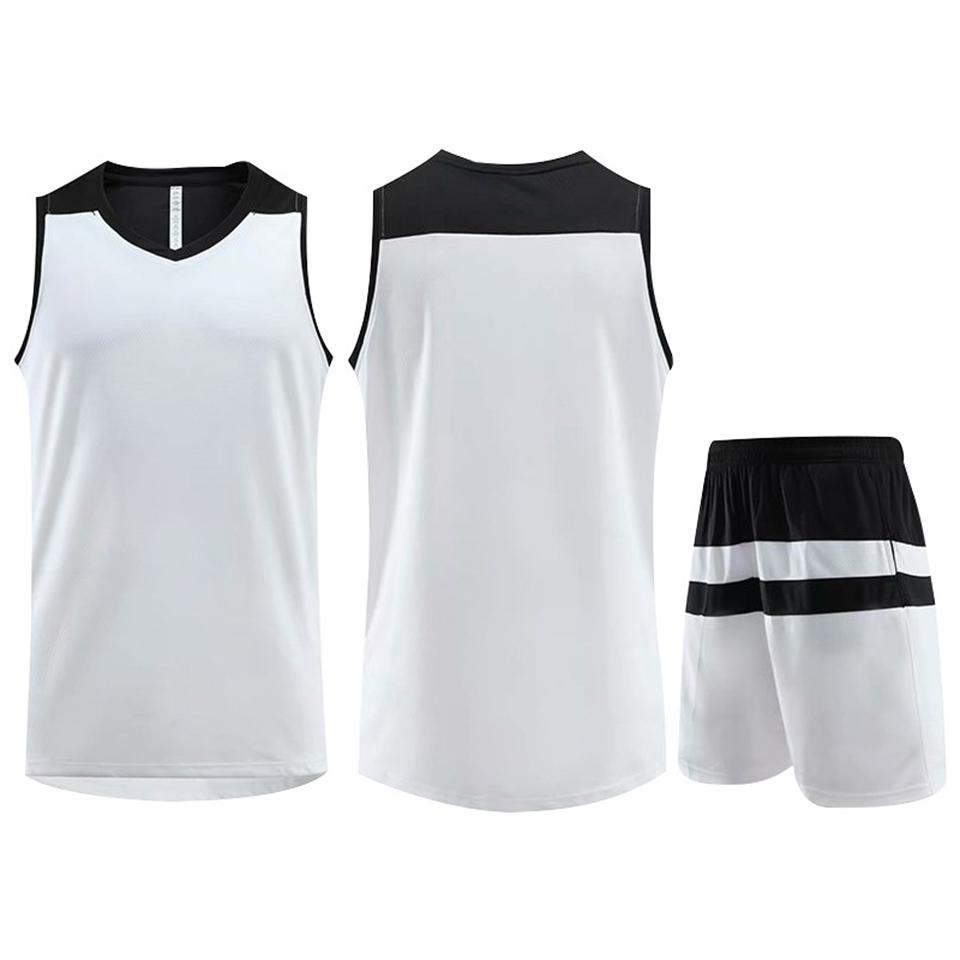 Best Selling Customized Training Sportswear Basketball Jersey White Running Jogging Men Women Striped Trendy Clothing Suit Plus Size 5XL