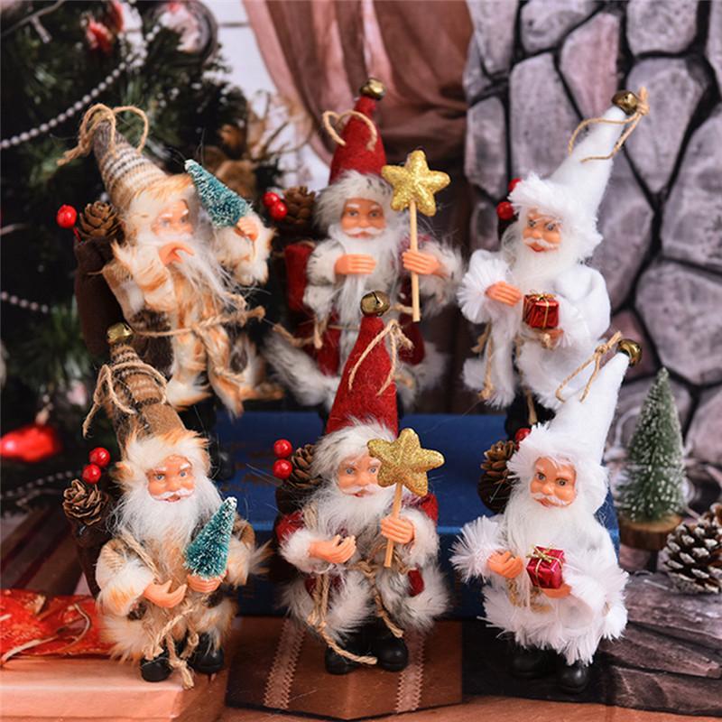 Weihnachtsmann-Tür-Hängen Weihnachtsbaum Startseite Ornamente Weihnachtsgeschenk Weihnachtssüßigkeit Tasche Schneemann-Verzierung Weihnachtsbaum-Dekor-Hängen