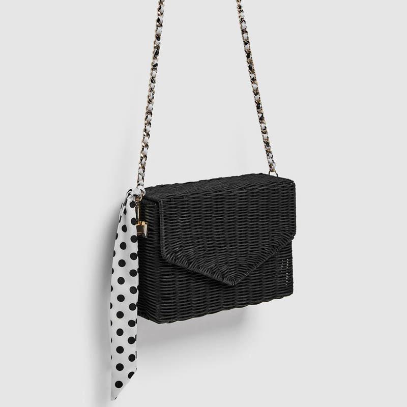 0670e2016d43 2019 Fashion 2018 Fashion Rattan Straw Bags Women Beach Crossbody Bags  Summer Scarf Handbags Ladies Bohemian Style Shoulder Bag Chain Flap Man Bags  ...