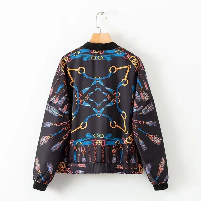 Wholesale Women's High Quality Jacket Long Sleeve Designer for Autumn Winter Coats Zipper Print Streetwear Fashion Female Top S-L