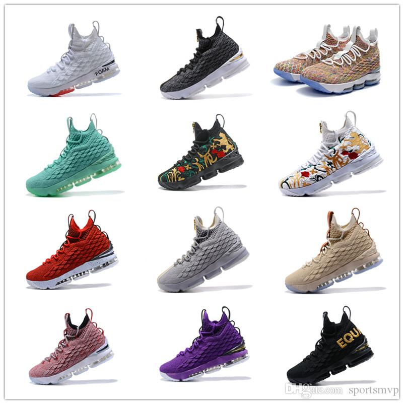 ffe96b4c55d8 2019 2018 Ashes Ghost Floral Lebrons 15 Basketball Shoes Lebron Shoes  Sneaker 15s Mens Sports Shoes James Us 7 12 From Sportsmvp