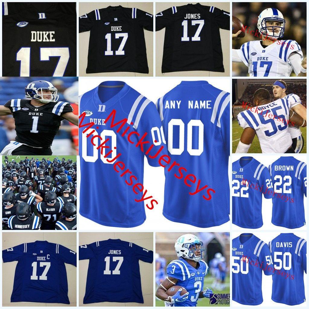 the best attitude 90645 ad586 Custom NCAA Duke Blue Devils College Football Jerseys Myles Hudzick DANIEL  JONES Brittain Brown Joe Giles-Harris Ben Humphreys Duke Jersey