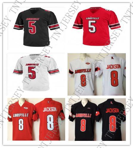 buy online 5bd90 4fa2d 2019 Cheap Custom Louisville Cardinals Collage Football ...