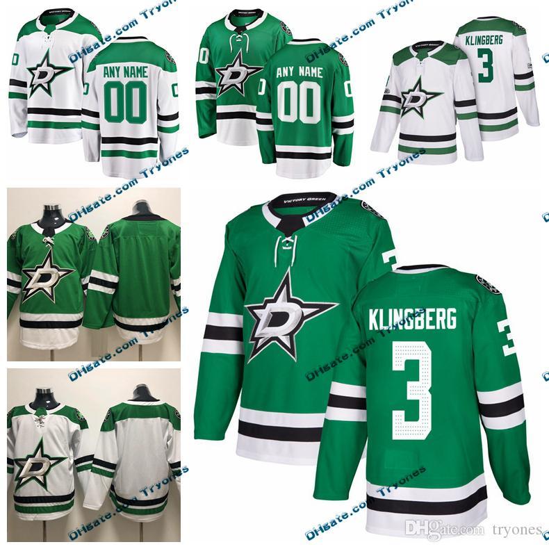 ... discount 2019 2019 customize john klingberg dallas stars stitched  jerseys custom home green shirts 3 john d148dd55f