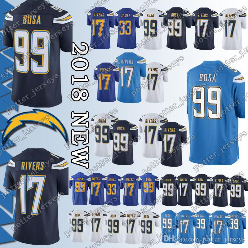 cheap for discount 82c71 768bc Cheap sales Los Angeles Charger Jersey 33 Derwin James 99 Joey Bosa 17  Philip Rivers Jerseys Adult shirt Top quality