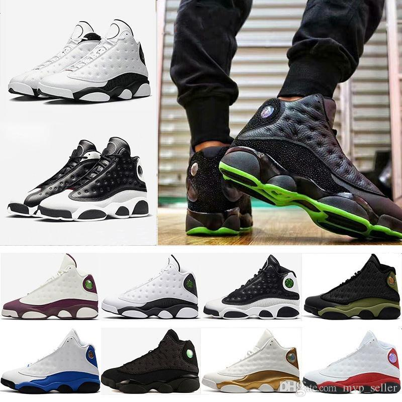 High quality 13 13s men Women basketball shoes GS Hyper Royal Italy Blue Bordeaux Flints Chicago Bred DMP Wheat Olive Black Cat sneakers