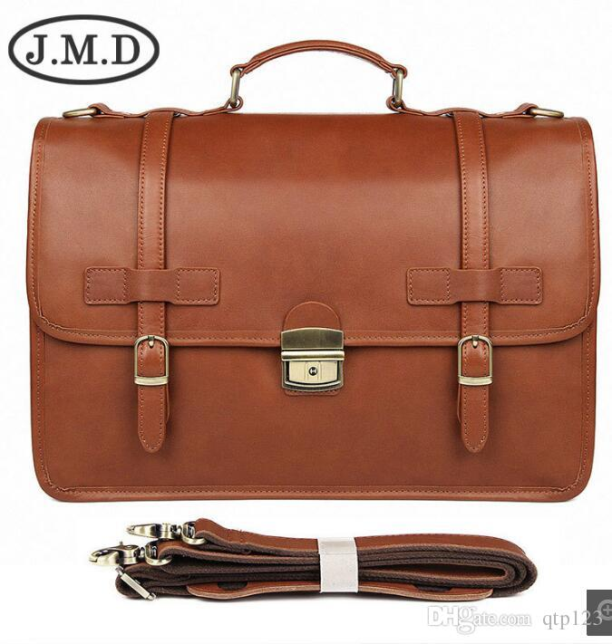 JMD winter new British style exquisite briefcase men's leather business bag crazy horse leather briefcase