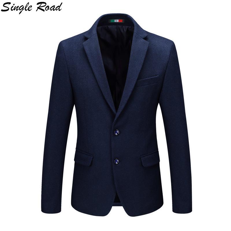 grosshandel single road american man blazer wolle gehrock royal blue suit jacket 2019 buhnenkostume fur sanger mens blazer jacket sr38 von dalivid