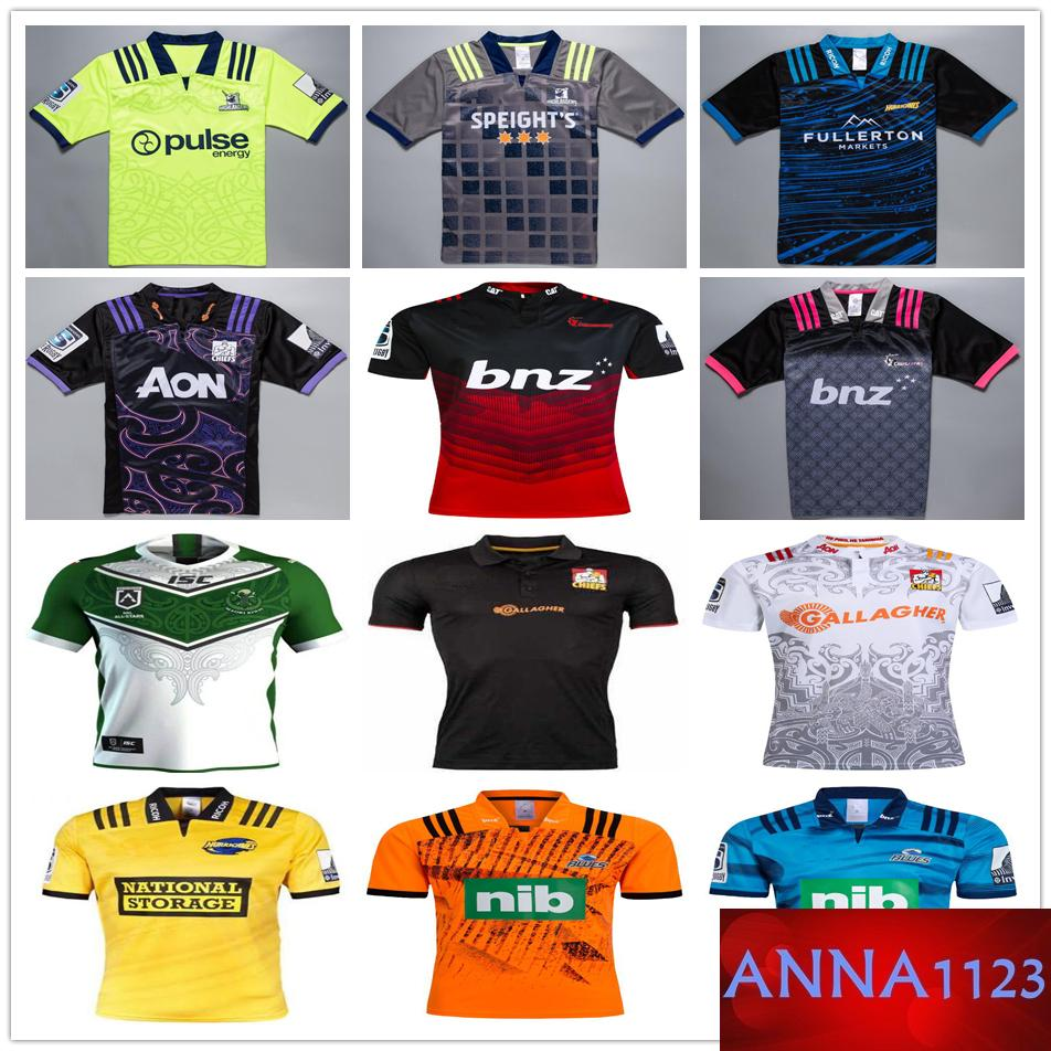 2d20ca98715 2019 2018 2019 New Zealand Super Rugby Jerseys Highlanders Hurricanes Blues  Maori All Stars Chiefs Crusaders 18 19 Home Away Football Shirts From  Anna1123, ...