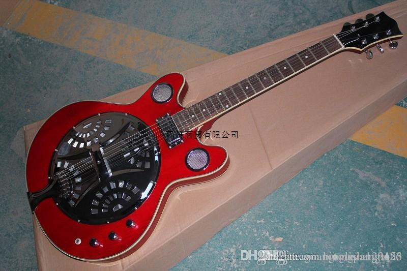 Free Shipping 2014 new High Quality maestro brand custom Dobro Resonator burlywood Electric Guitar