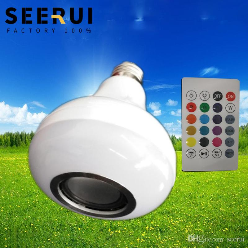 LED bluetooth music bulb creative 7 color remote control color changing USB card stereo E27 screw speaker bulb