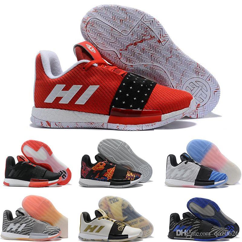 newest cb394 412cb 3 3S III MVP BHM Schwarze Jungen Monats Herren Basketballschuhe Harden  Schuhe Outdoor Sports Training Sneakers Größe 40 46 Von Qaz0626,  94.48 Auf  De.