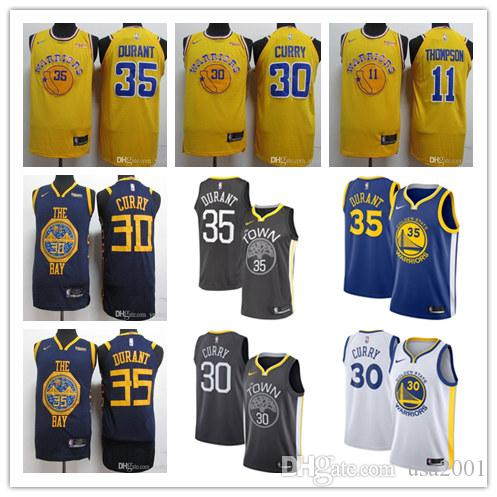 newest 67274 6ed9a Golden State 2019 Stephen Curry Kevin Durant Klay Thompson the stitched  cheap baketball Jerseys