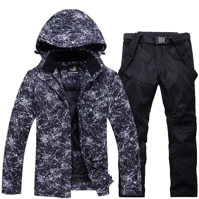 af95a5a7de 10K Ski Suit Men Winter New Outdoor Windproof Waterproof Thermal ...