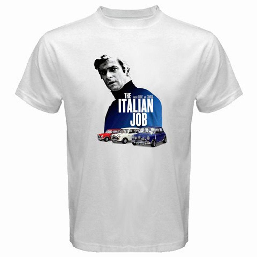 Mens Designer T Shirts Shirt New The Italian Job Retro Classic Movie