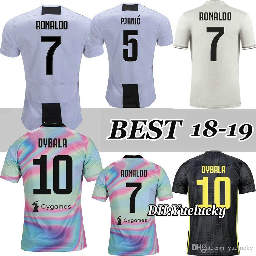 2fa1250ad62 2019 RONALDO DYBALA 18 19 POGBA HIGUAIN MATUIDI CR7 Jersey Home Away Soccer  2018 2019 CUADRADO MARCHISIO MANDZUKIC FOOTBALL Shirt From Yuelucky