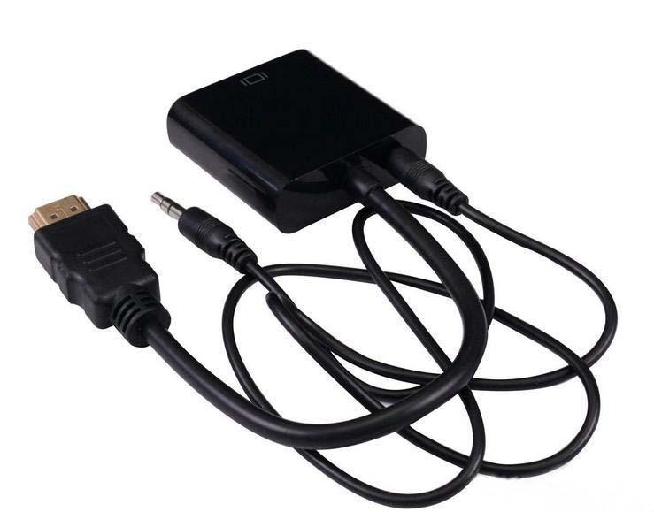 Câble de données HDMI vers VGA avec câble audio Adaptateur de convertisseur vidéo 1080P Adaptateur numérique / analogique pour ordinateur portable Tablet Projecteur MQ200