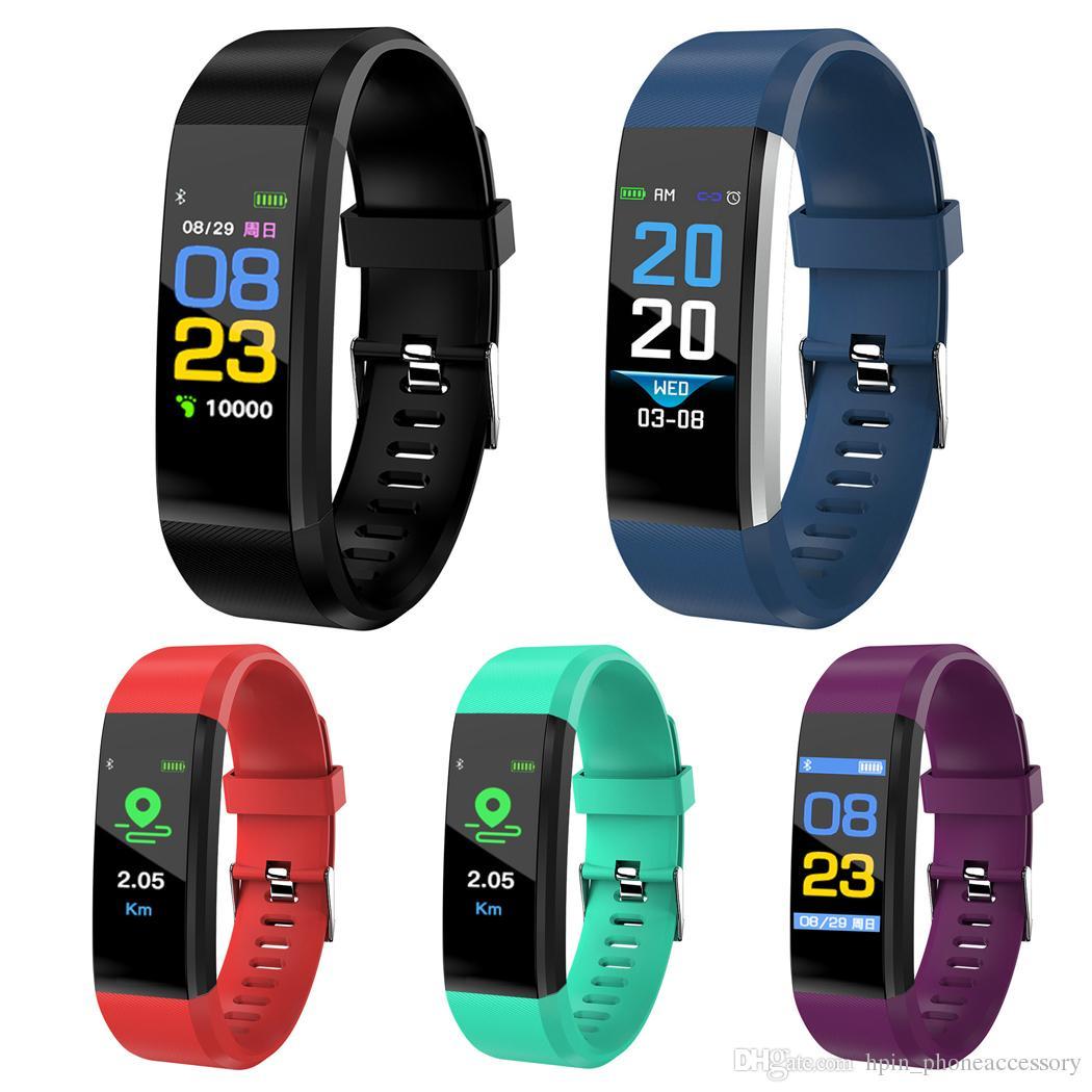 91059cc63b9d Reloj Inteligente Bluetooth ID115 Más Pulsera Inteligente Rastreador De  Fitness Contador De Pasos Monitor De Actividad Banda De Reloj Pulsador  Monitor De ...