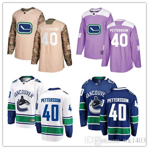 wholesale dealer 2219f 1c3b2 Vancouver Canuck jerseys #40 Elias Pettersson Jersey hockey men women youth  Alternate blue home white away Stiched Third Premier Jerseys