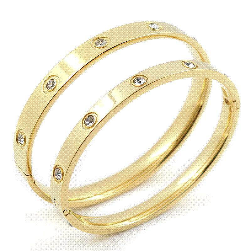 c606bcec669 Cheap Stainless Steel Shackle Bracelet Wholesale Wholesale Gold Thin Bangle