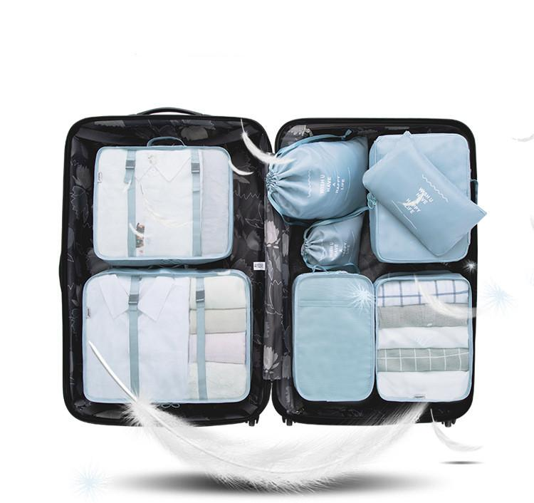 d74cf880164d 8 pcs Luggage Packing Organizers Packing Cubes Set for Travel Water proof  Travel Storage Bags Clothes Packing Luggage Organizer Pouch #33