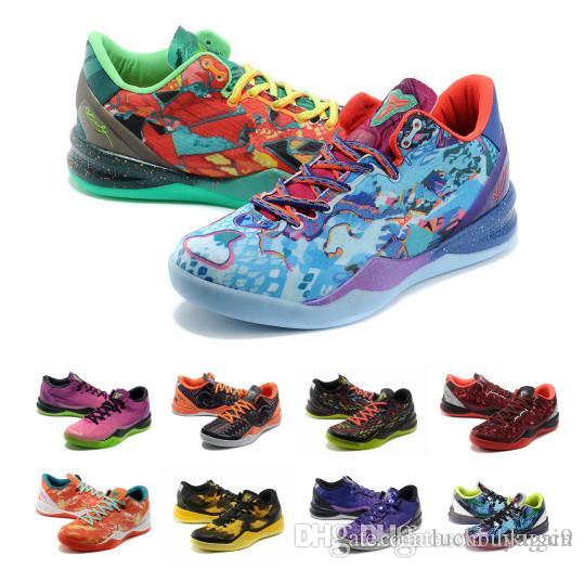 online retailer 57847 9492f 2019 Multicolor What The Kobe 8 VIII System Top Basketball Shoes For Cheap  Classic KB 8s Mamba Assassin Easter Master Sports Sneakers Size 40 46 From  ...