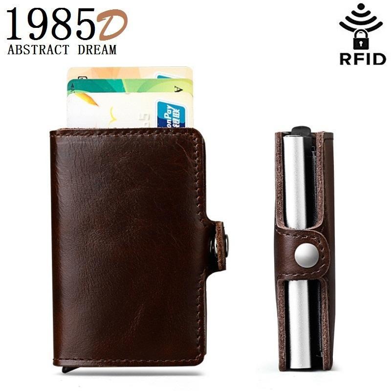 6c286eb50f9 Men S Automatic Pop Up Card Bag Cards Wallet . Designer Real Leather Men  Metal Card   Wallet .Holders Aluminium Alloy Box Purse Cowboy Wallets Girl  Wallets ...