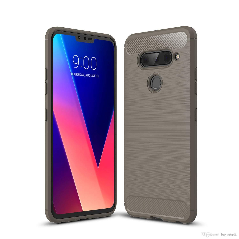 e55327c16fa Fundas Para Smartphone Para Samsung Galaxy M10 M20 M30 Funda De Armadura Funda  De TPU De Fibra De Carbono Cepillada Para A10 A20 A30 A40 A40S A50 A70  Diseña ...