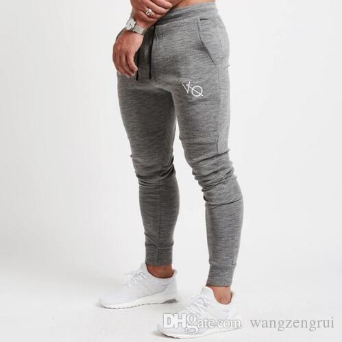 aaeb2668db155 Compre Moda Homens Correndo Moletom Esporte Skinny Leggings Sportswear  Calças Justas Dos Homens Calças De Fitness Ginásio Dos Homens Elásticas De  ...