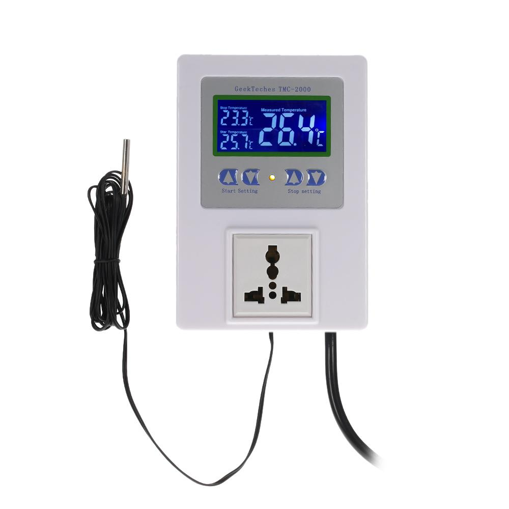 Freeshiping New Digital Intelligent Temperature Controller Pre-wired thermal regulator with Sensor Thermostat Heating Cooling Control Switch