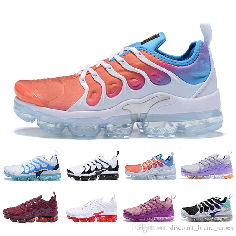 af0ab6c5c0 Compre Nike Air Max Vapormax Plus Tn Women Running Shoes White Pink Purple  Girl Grape Womens Female Sports Outdoor Trainers Sneakers EUR 36 40 De ...